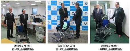201803車椅子寄贈
